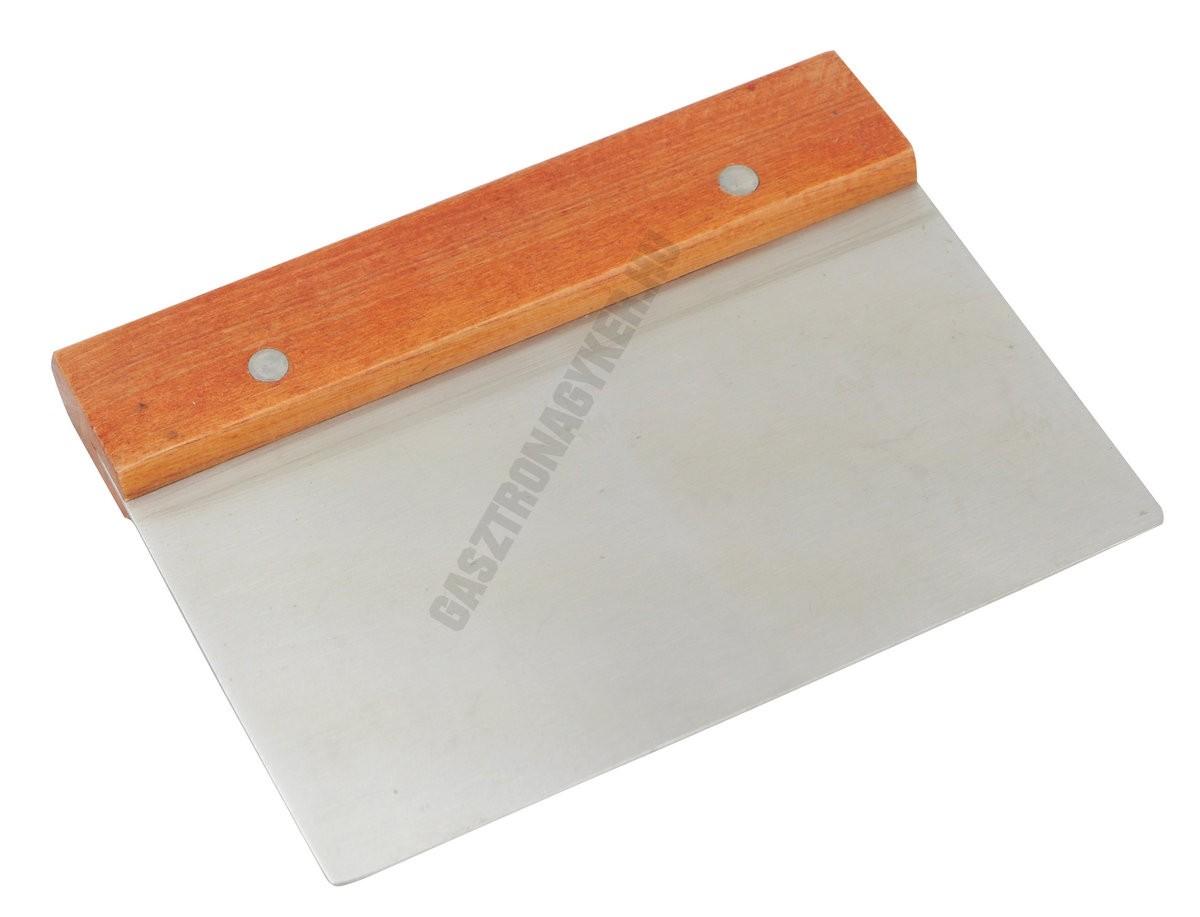 Tésztakaparó (Trokser), fanyelű 15×7,5×11 cm