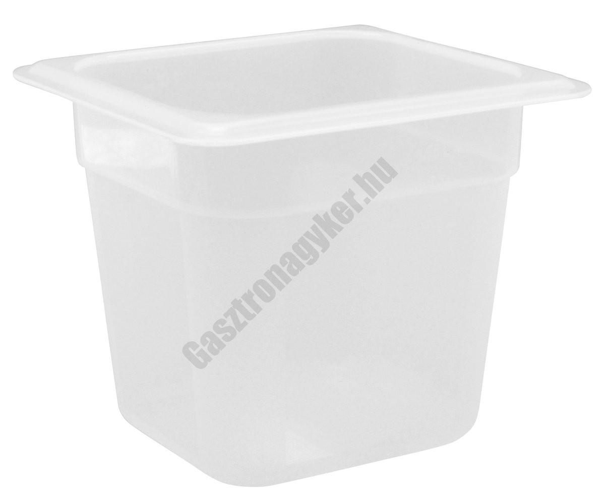 Polipropilén Gn edény 1/6 150 mm (16,2×17,6×15 cm) 2 liter
