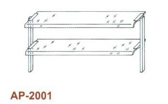 Kétsoros átadó hajlított üveggel 1500 mm-es pulthoz AP-2001 1500