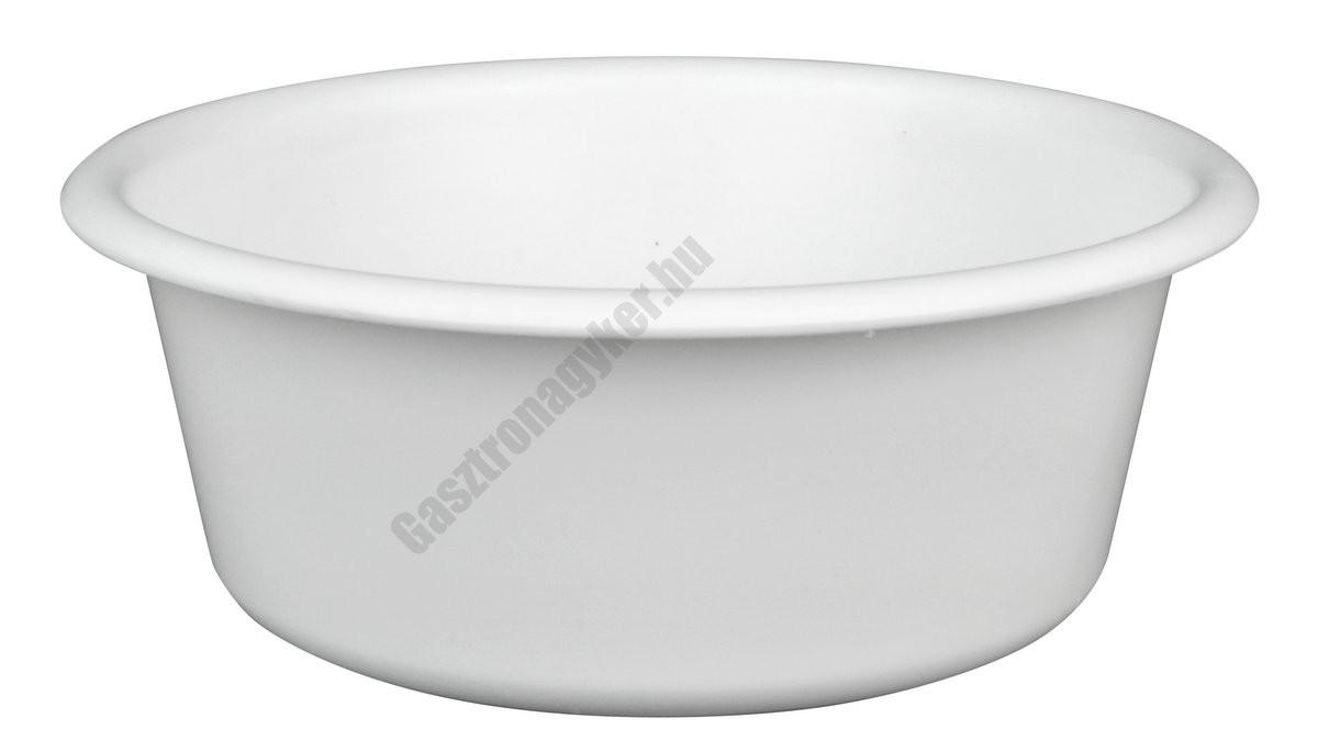 Peremes tál, 20 cm, 1,5 liter, fehér, műanyag