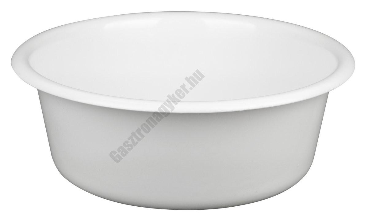 Peremes tál, 30 cm, 5 liter, fehér, műanyag