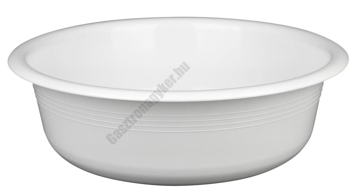 Peremes tál 40 cm 9 liter, fehér, műanyag