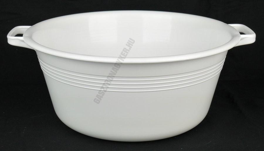Peremfüles tál, 36 cm, 9 liter, fehér, műanyag