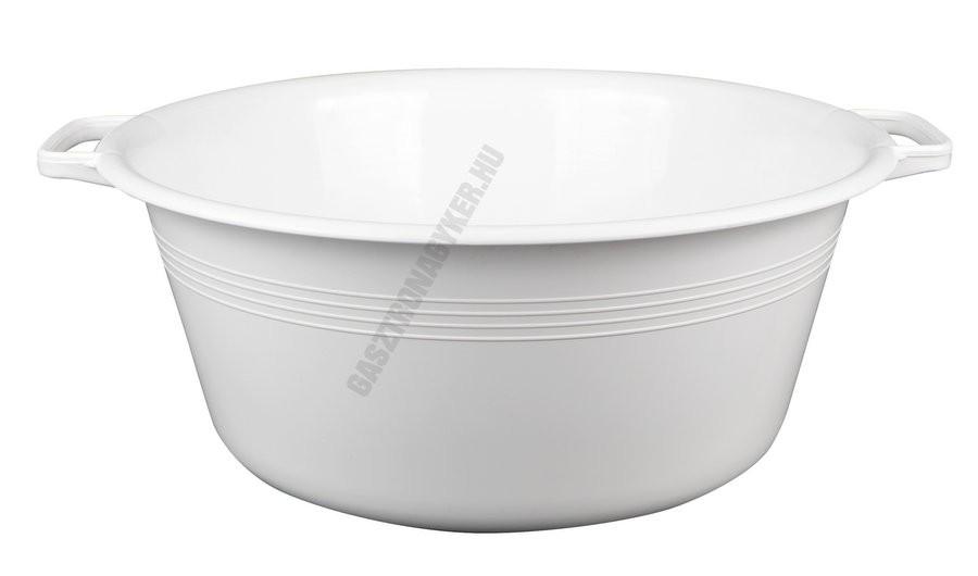 Peremfüles tál, 40 cm, 13 liter, fehér, műanyag