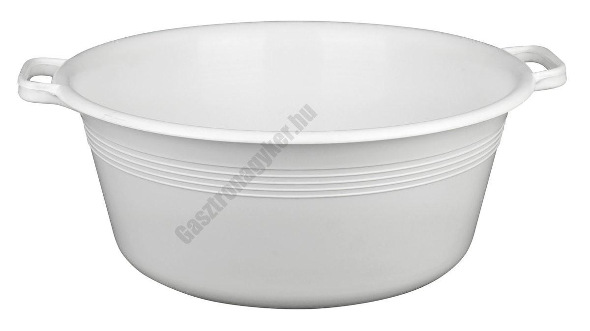 Peremfüles tál, 44 cm, 16 liter, fehér, műanyag