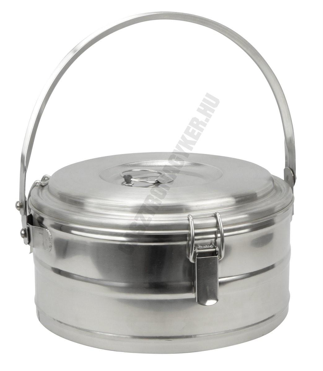 Badella, ételszállító, 5 liter, duplafalú, 30×17 cm, rozsdamentes