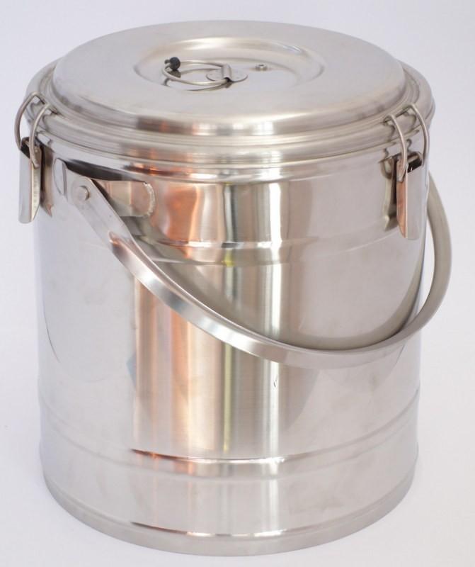 Badella, ételszállító, 15 liter, duplafalú, 30×32 cm, rozsdamentes