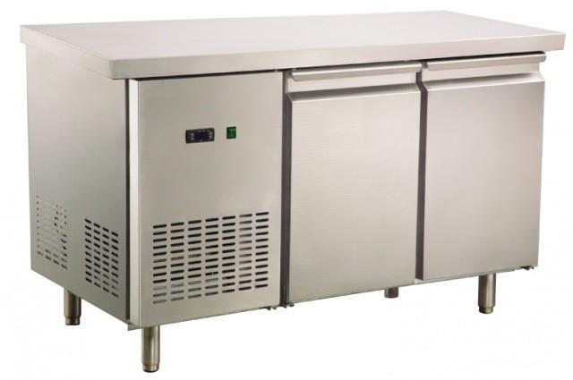 Fagyasztó munkaasztal 2 ajtóval 1355×700×850 mm GNTF700L2