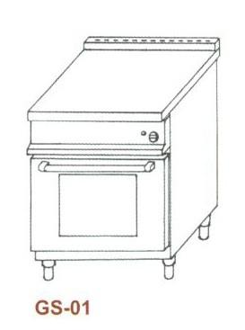 Gáz sütő, 1×GN1/1 GS-01