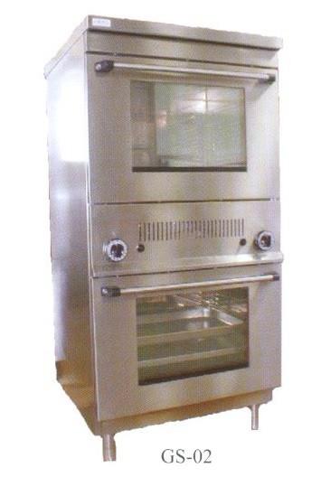 Gáz sütő, 2×GN1/1 GS-02