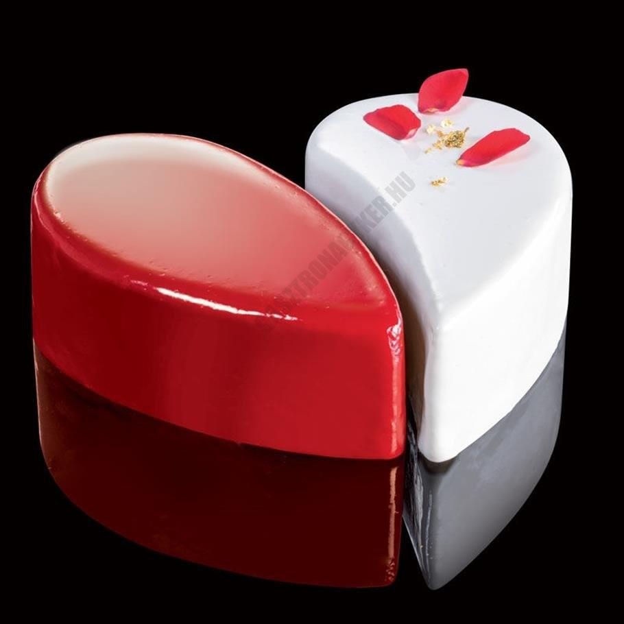 Cake Idea 2 részes sütőkeret, Heart 14, rozsdamentes