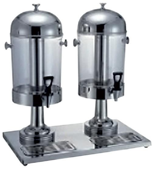 Juice adagoló 2×8,5 literes tartállyal rozsdamentes, 55,5×35×60 cm (dupla)