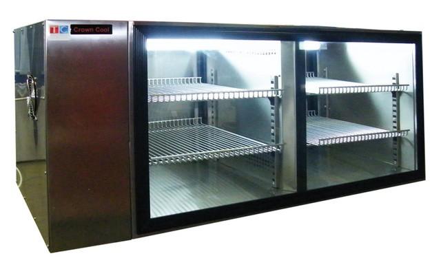 Fekvő két légterű 185 literes rozsdamentes hűtővitrin L-185-2/RM