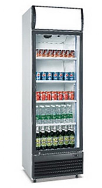 Üvegajtós felépítményes hűtővitrin 350 literes LG-350F
