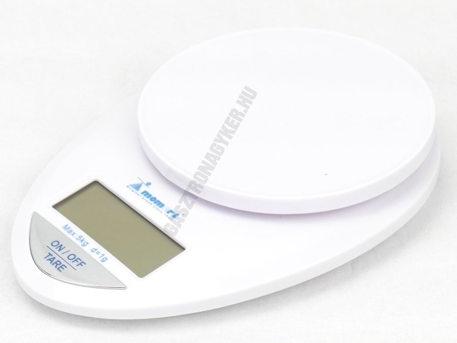 Digitális konyhamérleg 5 kg méréshatár, 1 g pontosság