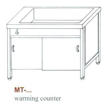 Elektromos melegen tartó pult, alul nyitott MT-1500 NY