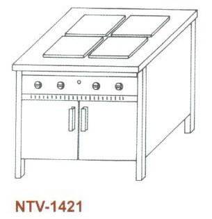 Elektromos főzőasztal, zárt, 4 főzőlapos NTV-1421