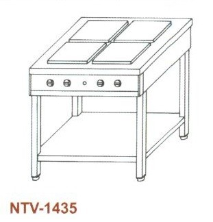 Elektromos főzőasztal, nyitott, 4 főzőlapos NTV-1435