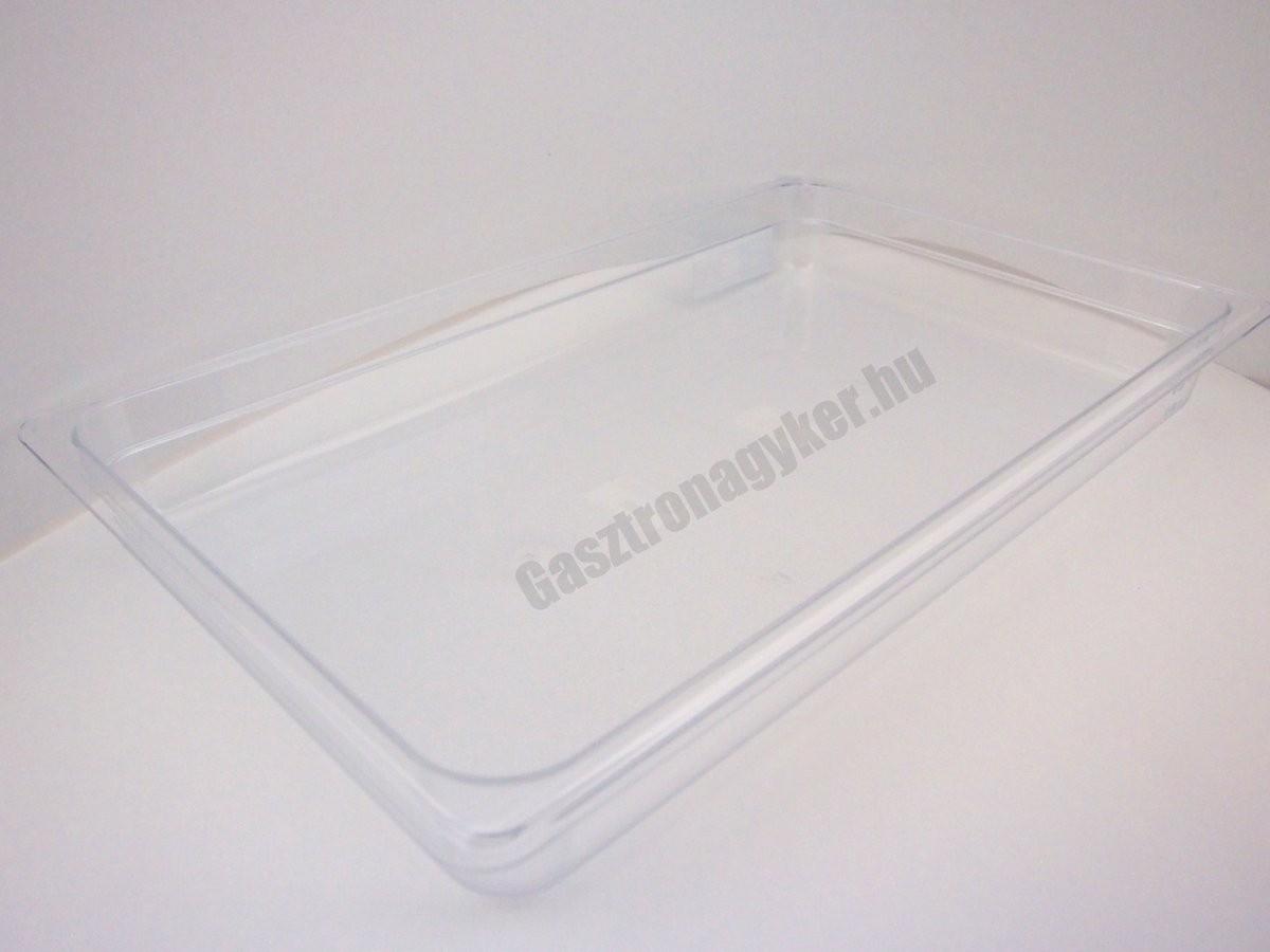 GN edény, 1/1 65 mm, 9 l, polikarbonát