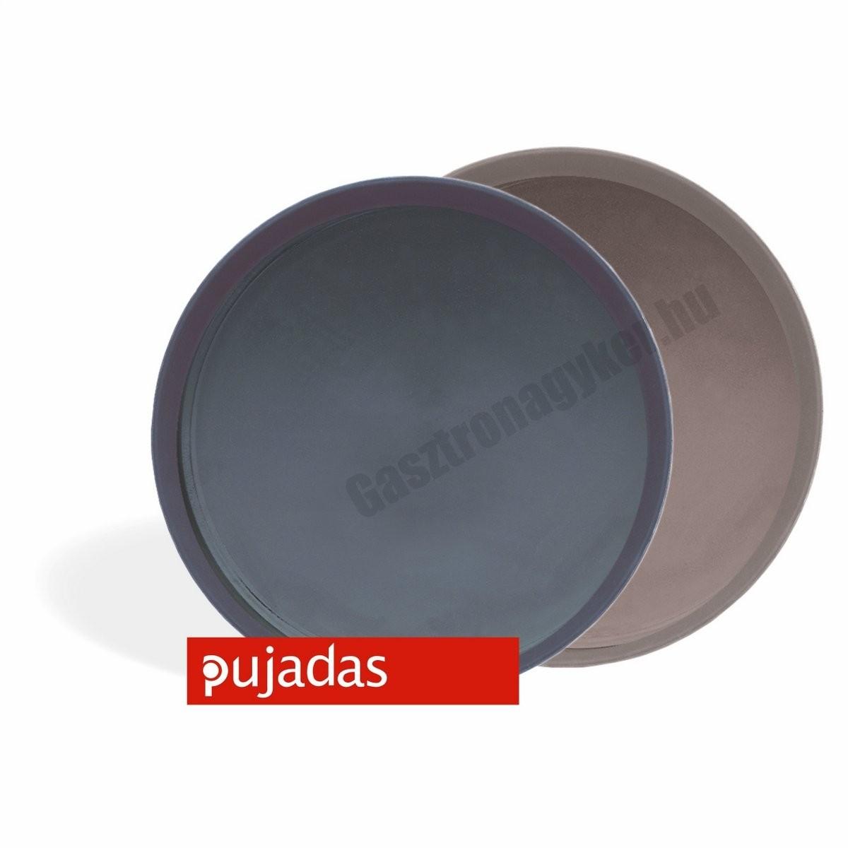 Csúszásmentes tálca fekete 40 cm