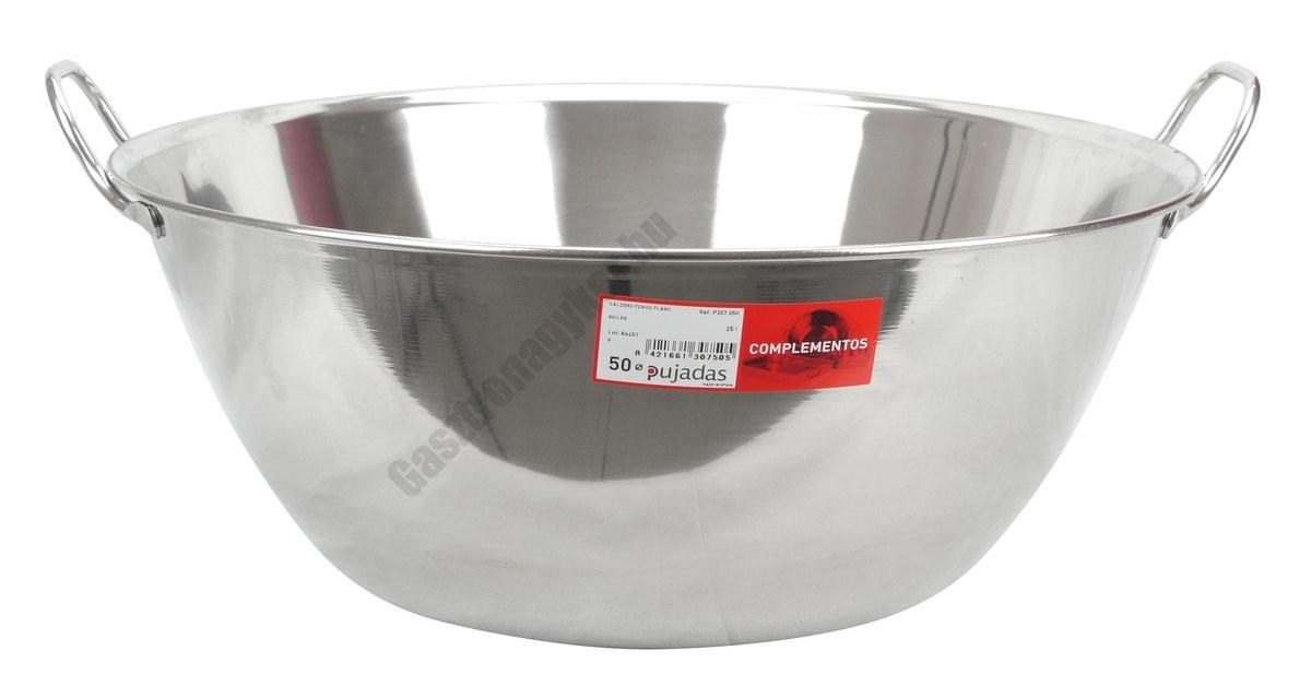 Vájling, Rozsdamentes tál, 50 cm 25 liter rozsdamentes