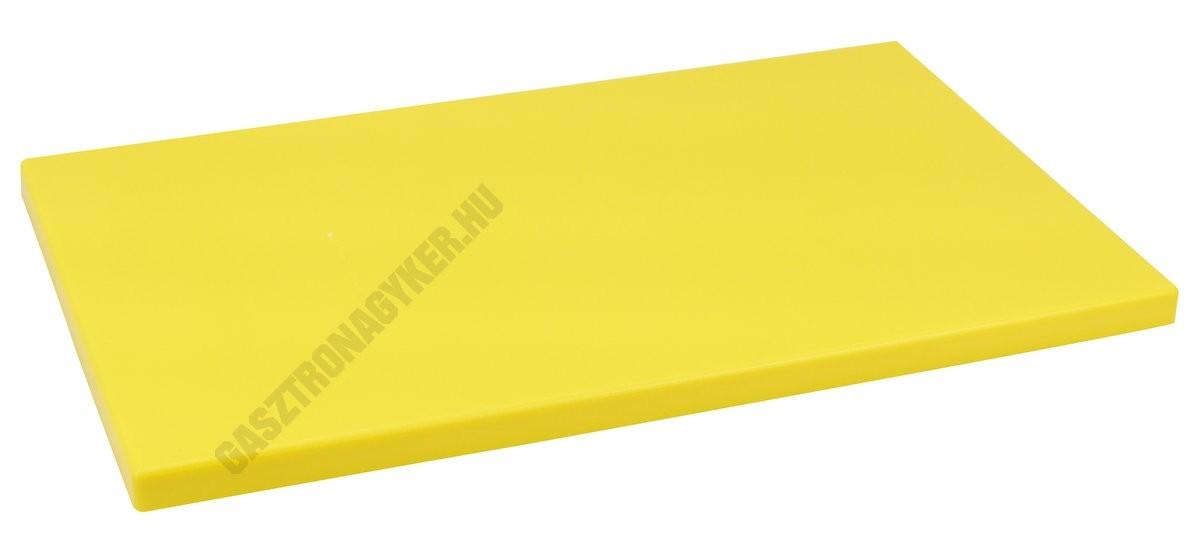 Vágólap 30×50×2 cm sárga műanyag 6 gumitalpacskával