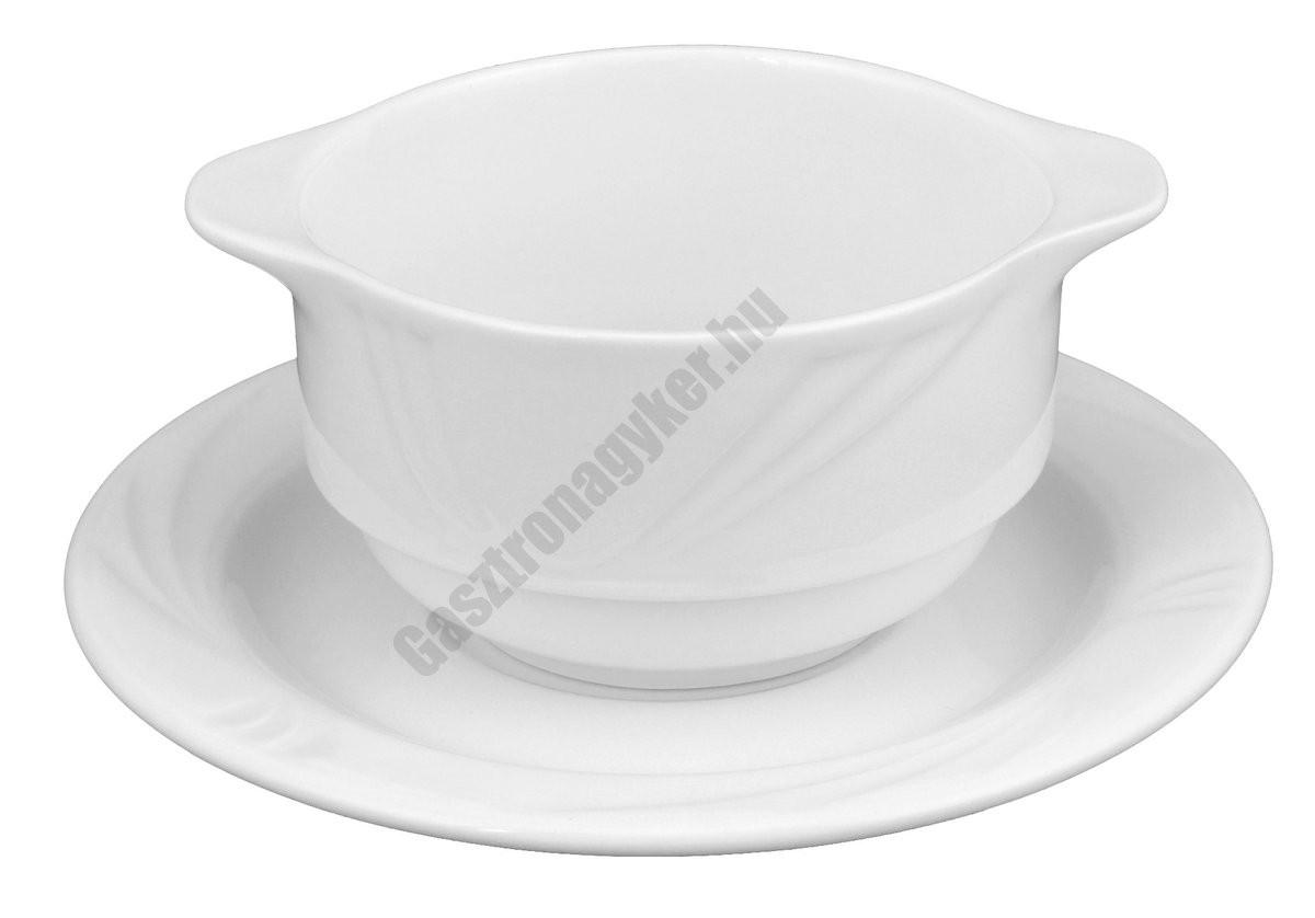 Arcadia levesescsésze+alj 16,5 cm 0,32 liter, porcelán