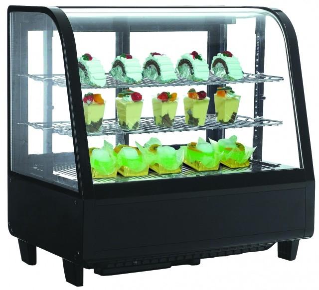 Hajlított üvegű 100 literes bemutatóvitrin RTW-100