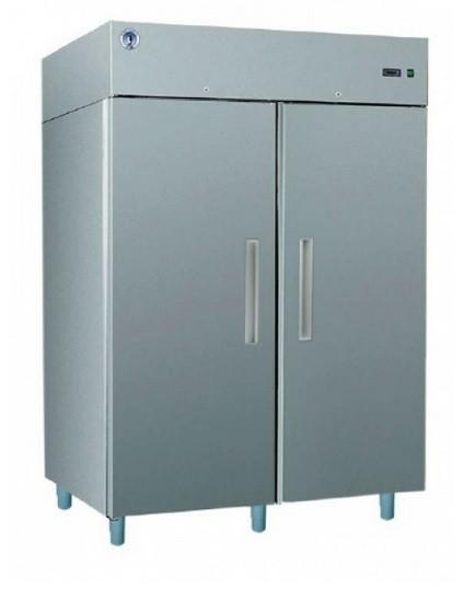 Teleajtós, kétajtós hűtőszekrény 1400 l, rozsdamentes külsővel GASTRO C1400 INOX