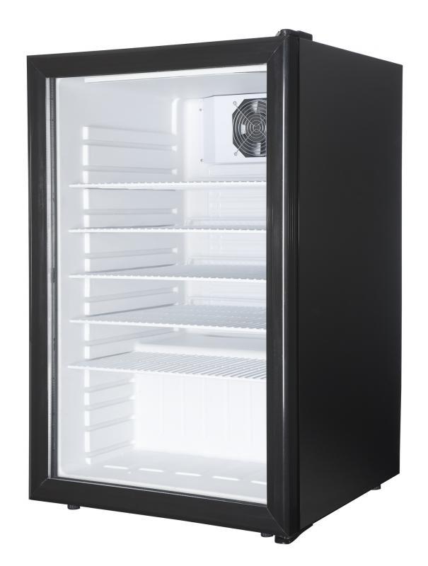 Üvegajtós hűtővitrin 130 liter SC 130