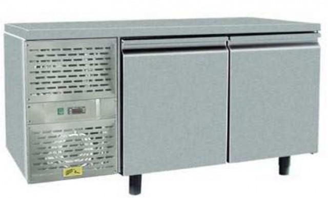 Fagyasztó munkaasztal 2 ajtóval 1410×700×850 mm SCHN-702