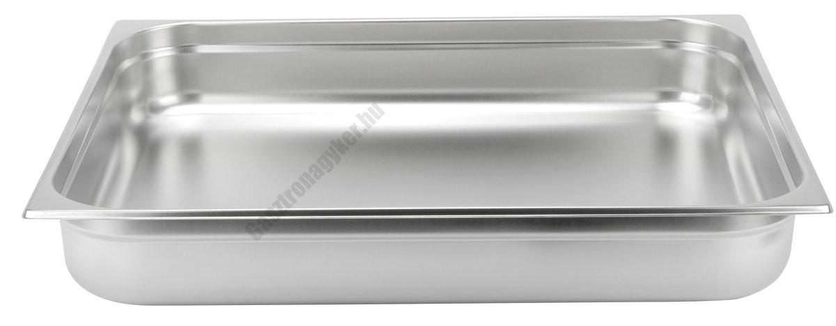GN edény, 2/1 100 mm, 28,5 l, rozsdamentes
