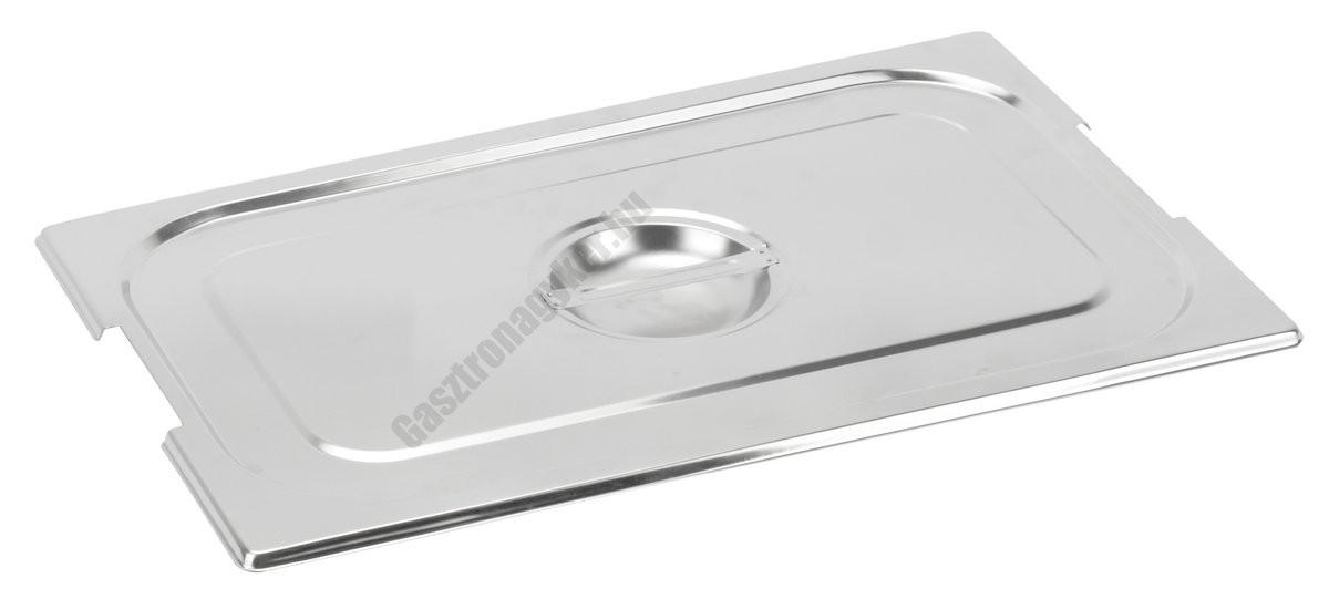 Gn 1/1 tepsi fedő (32,5×53 cm) fülkivágással rozsdamentes