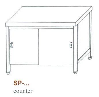 Semleges pult, alul zárt, tolóajtókkal SP-1200