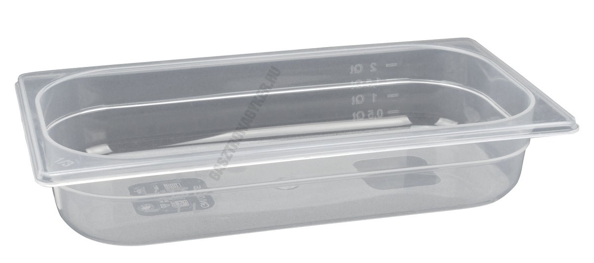 Gn edény 1/3 65 mm (32,5×17,6×6,5 cm) 2 liter polipropilén
