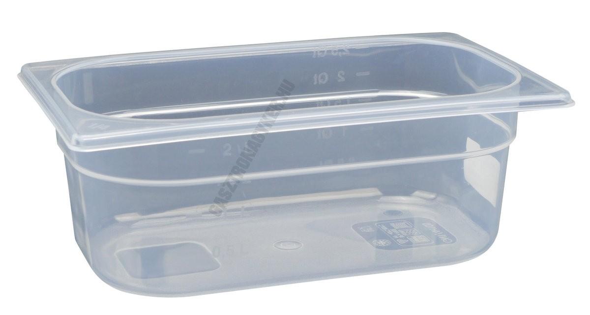 Gn edény 1/4 100 mm (16,2×26,5×10 cm) 2,8 liter polipropilén