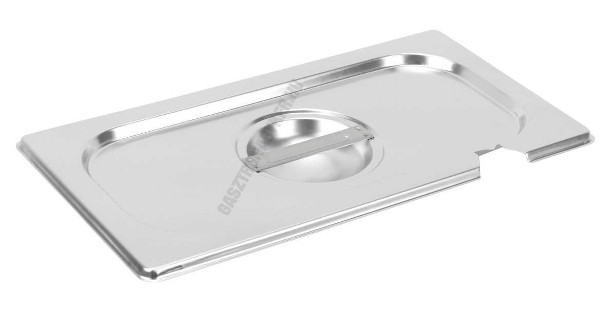 Gn 1/3 fedő (32,5×17,6 cm) kanálkivágással, rozsdamentes