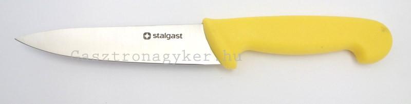 Konyhakés, 15 cm penge, sárga nyéllel