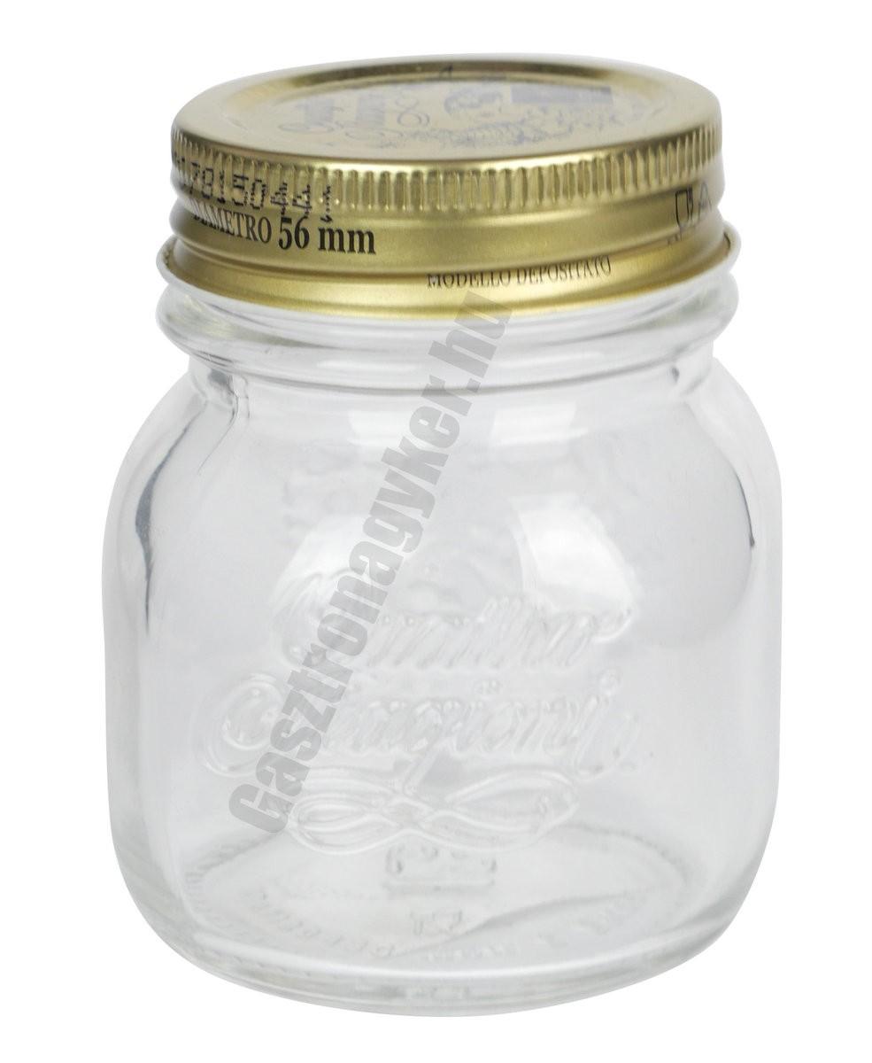 Quattro tárolóüveg-díszüveg tetővel 0,15 literes