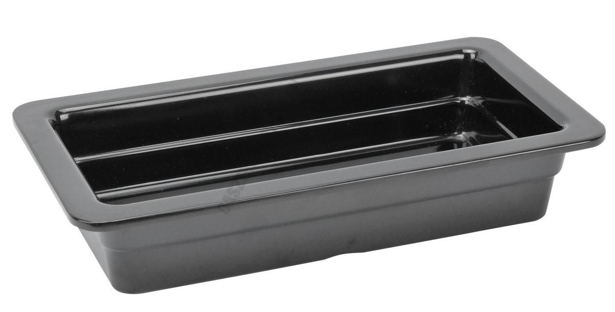 Gn edény 1/3 65 mm (17,6×32,5×6,5 cm) fekete melamin