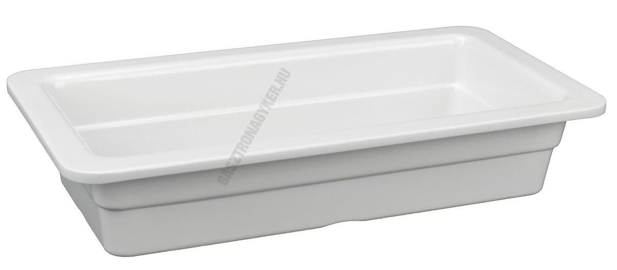 Gn edény 1/3 65 mm (17,6×32,5×6,5 cm) fehér melamin
