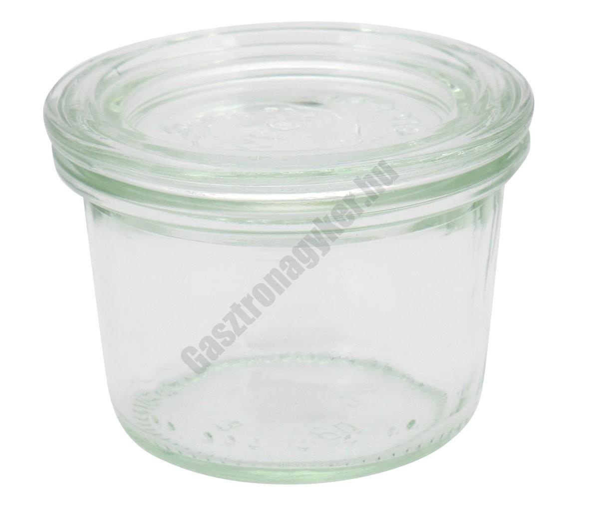 Weck Aps üveg kínáló+fedő, 0,8 dl, 6×5,5 cm, 12 db/cs