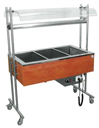 Salátahűtő kocsi 1200×650×1400 mm TETE