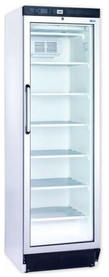 Üvegajtós fagyasztóvitrin 300 l, festett külsővel UDD 370 DTK