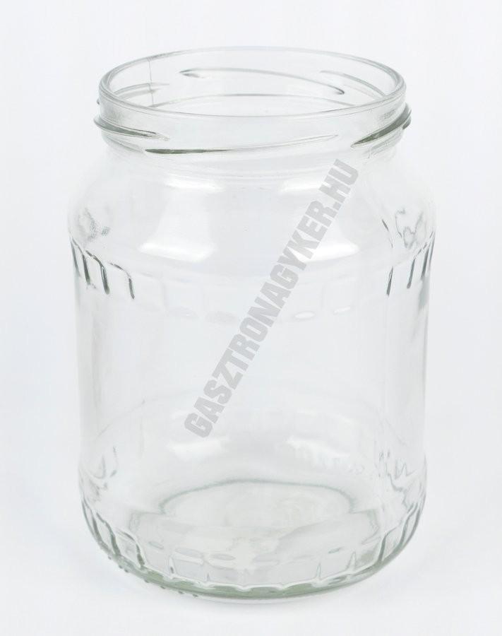 Befőttesüveg 720 ml. tető nélkül 48 db