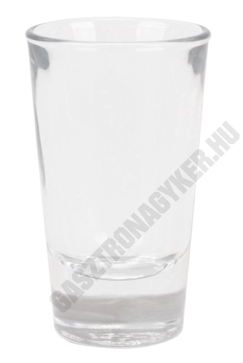 Ouro pálinkás pohár, 60 ml, üveg