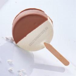 Jégkrémforma kiszúróval, 5 adag, kör, műanyag