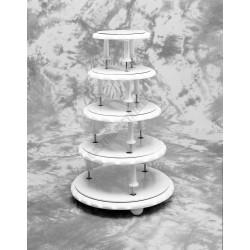 Tortaállvány, 5 emeletes, Classic kör