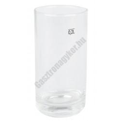 Gasztro pohár 200 ml mértékjeles, üveg