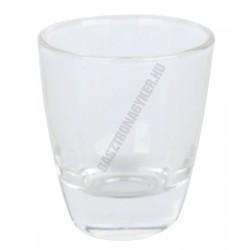 Pálinkáspohár 25 ml, üveg